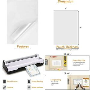 Tyh Supplies 100 pack 5 X 7 Inch 5 Mil Clear Hot Glossy Thermal Laminating Pouch