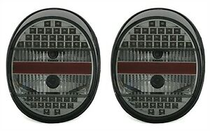 Vw Old Beetle Bug All Smoked Led Tail Lights Rear Lamps 1972 1996 Model