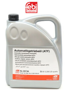 5 Liters Automatic Transmission Fluid Febi Atf Amber clear
