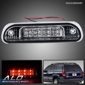 For 99 04 Jeep Grand Cherokee Chrome Clear Lens Led 3rd Third Brake Light Lamp