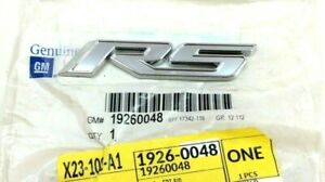 2011 2012 Chevrolet Cruze Lower Front Door Chrome Rs Nameplate Emblem Badge Oem