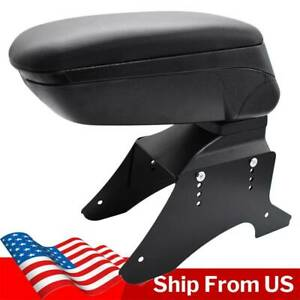 Universal Sliding Armrest Content Box Central Console Black New Container