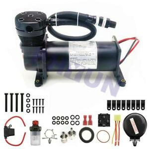 12v 200psi Air Compressor Kit W Relay Switch For Air Horn Siren Truck Boat Usa