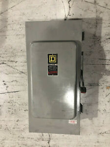 Square D Safety Switch Disconnect Hu364awk 200 Amp 600 Volt Non Fusible Nema 3r