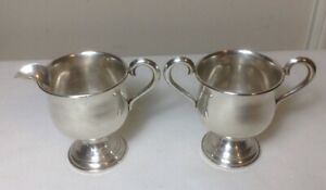 Vintage Empire Sterling Silver Weighted Sugar And Creamer Set 24