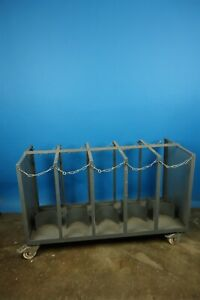 10 Place Cylinder Gas Cylinder Cart Holds 10 Gas Cylinders Heavy Duty