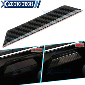 Carbon Fiber Inner Console Center Storage Box Decal Trim For Honda Civic 16 2020