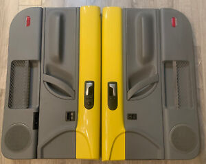98 10 Vw Beetle Door Panels Pair Driver Passenger Double Yellow Gray Nice Set
