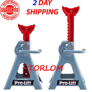 Pickup Truck Jack Stands 3 Ton Heavy Duty Double Pin Locking For Auto Suv Safety