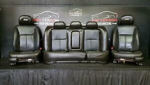 2009 Chevy Impala Ss Front Power Bucket Rear Seats Black Leather Trim 19i