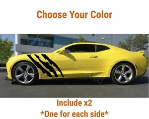 Monster Scratch Stripes Graphic Car Vinyl Sticker Hood Bumper Side Door Decal