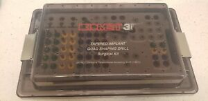 Biomed 3i Dental Tapered Implant Quad Shaping Drill Surgical Kit Rarely Used