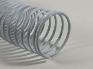 35mm Plastic Spiral Binding Coil 4 1 Pitch 1 3 8 White 12 Long Box Of 88