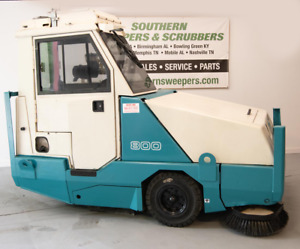 Used Tennant 800 Industrial Ride On Sweeper