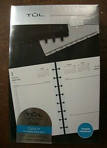 Tul Discbound Daily Refill Pages Jr Size Fashion Jan Dec 2020 Timed Format