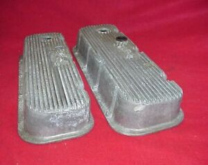Vintage Pair Edelbrock Aluminum Valve Covers Bbc Big Block Chevy 396 427 454