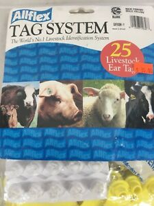 Ear Tags Cattle Blank 25 Count Yellow Global Maxi Livestock Identification Cow