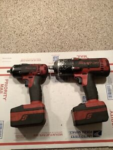 Snap on 18v Cordless Impact Set Ct8810 ct7850 2 batteries 1 Charger