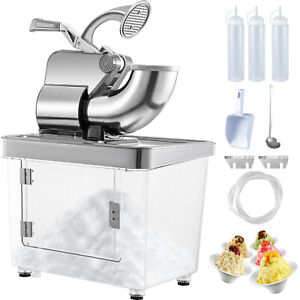 Commercial Snow Cone Machine Ice Shaver Ice Crusher Ice Blender Dual Blades Etl