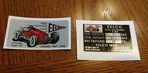 Eelco Fuel Tank Data Decal Set New Official Reproduction Fit Moon Gasser 3 3 1 2