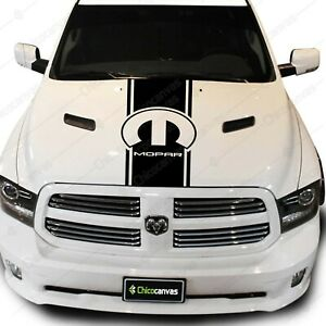 Dodge Ram Mopar Accessories Parts Pickup Truck Hood Decal Vinyl Stripes Sticker