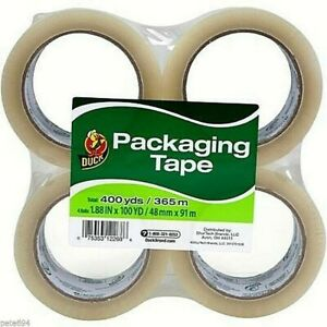 Duck Brand Packaging Tape 4 Pack 100 Yd Clear New Sr15