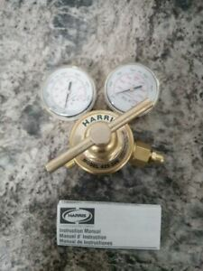 Harris 425 200 540 2 1 2 In Gauge Size Brass Body Oxygen Gas Regulator