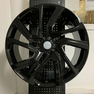 22 Gloss Black Autobiography Dynamic Style Rims Wheels Fits Range Rover Sport