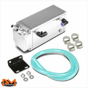 Racing Engine Billet Aluminum Oil Catch Reservoir Tank can Square Style Silver