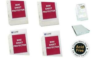 C line Top Loading Heavyweight Poly Sheet Protectors Clear Mini Size 8 5 X