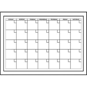 White Board Dry erase Monthly Calendar Pack Of 2