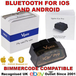 Vgate Icar 4 0 Ble 4 Diagnostic Dongle For Iphone Ipad Android Bimmercode Uk Co