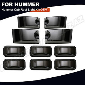 10pcs Smoked Lens Oe Cab Roof Marker Light For Hummer H2 2003 09 H2 Sut 2005 09