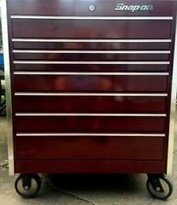 Snap On Krl 1056 Apm Eight Drawer Masters Series Roll Cabinet Cranberry Ex Cd