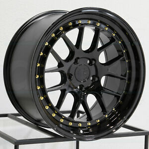 18x9 5 18x10 5 Aodhan Ds06 Ds6 5x114 3 22 22 Gloss Black Wheels Rims Set 4