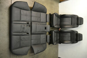 Bmw M5 Black Leather Comfort Seats Heated Cooled E60 Genuine Oem 2006 2010