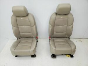 2015 Cadillac Escalade Pair Of Neutral Leather Bucket Seats Heated Cooled Oem