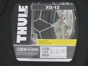 Thule Xg 12 225 Tire Snow Chains 1 Pair Set Of 2 Brand New