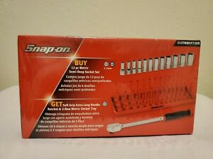 Snap On Tools 1 4 Ratchet With Socket Tray Set 112tmmsy72kr New Sealed In Box