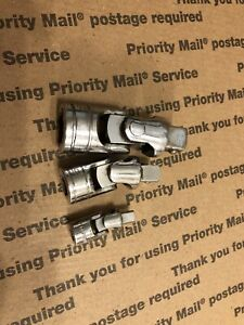 Snap On 1 4 3 8 1 2 Mix Drive Universal Joint Lot Set 103ufts