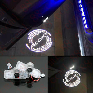 2x Car Led Door Ghost Logo Projector Puddle Lights Hd For Honda Accord 2003 2012