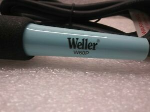 1 New Weller W60p3 Soldering Iron 60w 120v Pencil Tip 600 800 Knurled