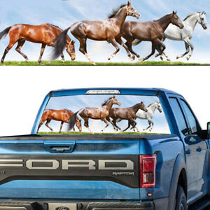 1pcs Tint Rear Window Graphic Decal Running Horses