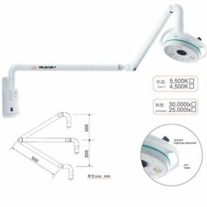 Dental 36w Wall Mounting Medical Surgical Led Exam Light Shadowless Lamp 800mm