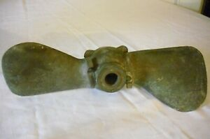 Antique Vintage 16 Brass Boat Propeller With Pivoting Blades