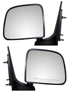 Manual Mirror Set Of 2 For 93 05 Ford Ranger 98 01 Mazda B2500 Folding New