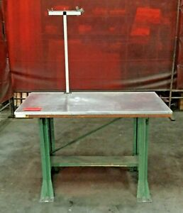 Industrial Heavy Duty Work Shop Table Stainless Top 48 l X 24 w X 33 h Lot 3