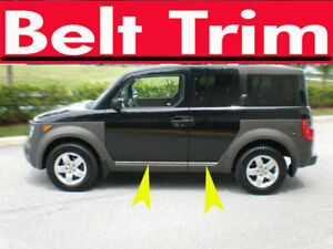 For Honda Element Chrome Body Side Molding Trim Kit 2003 2009 2010 2011