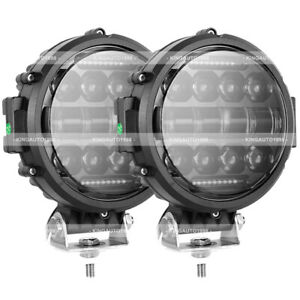 2x 7 Inch Combo Round Off Road Drl Led Work Light For Jeep Bumper Truck Boat 4wd