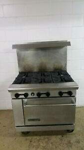 American Range 6 Burner Standard Oven Nat Gas Tested